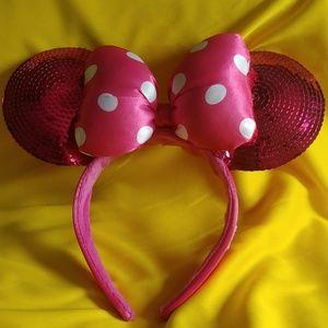 Disney Minnie Mouse Bow Sequin Ears